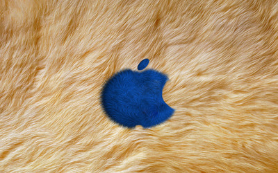 Fur Apple logo wallpaper