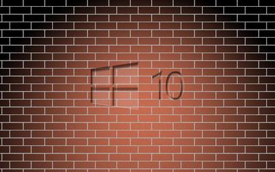 Glass Windows 10 on a brick wall wallpaper