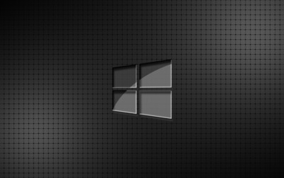 Glass Windows 10 on a grid wallpaper