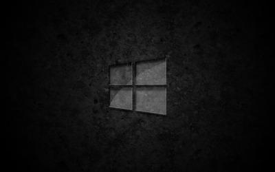 Glass Windows 10 on concrete wallpaper