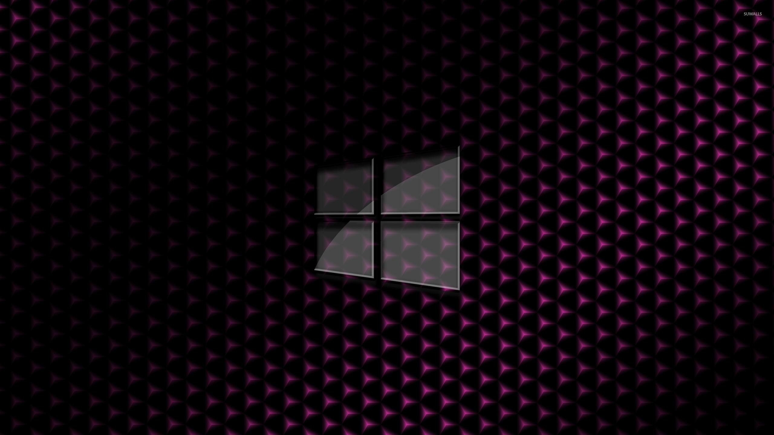 Glass Windows 10 Wallpaper : Glass windows on pink cube pattern wallpaper computer