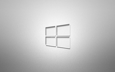 Glass Windows 10 on grainy gray wallpaper