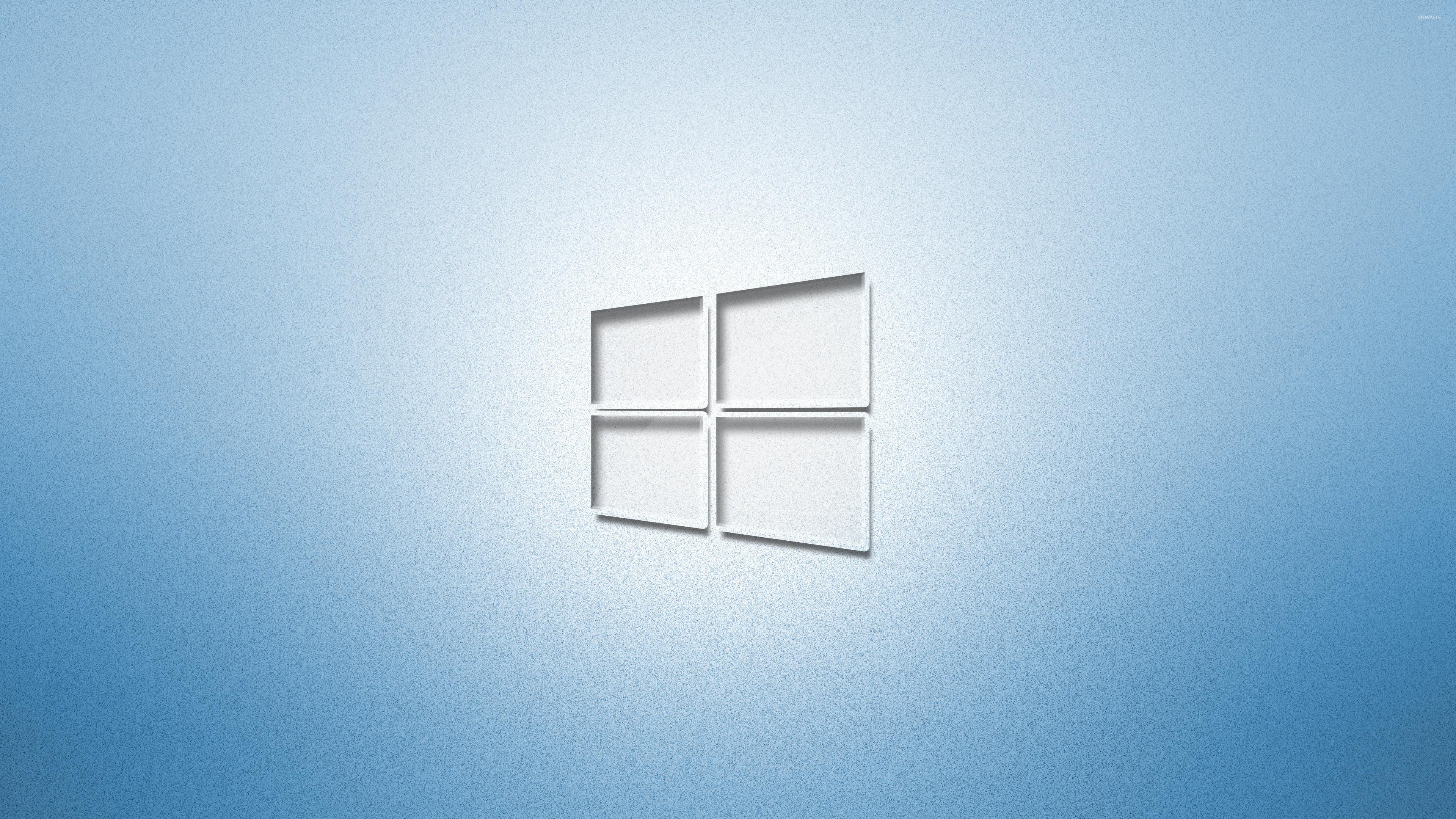 Glass Windows 10 Wallpaper : Glass windows on light blue wallpaper computer
