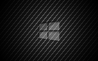 Glass Windows 10 on metal wallpaper