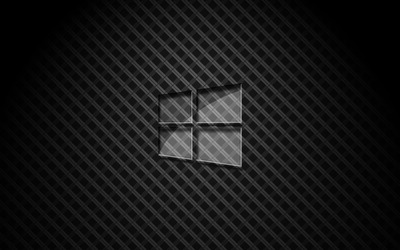 Glass Windows 10 on square pattern [2] wallpaper