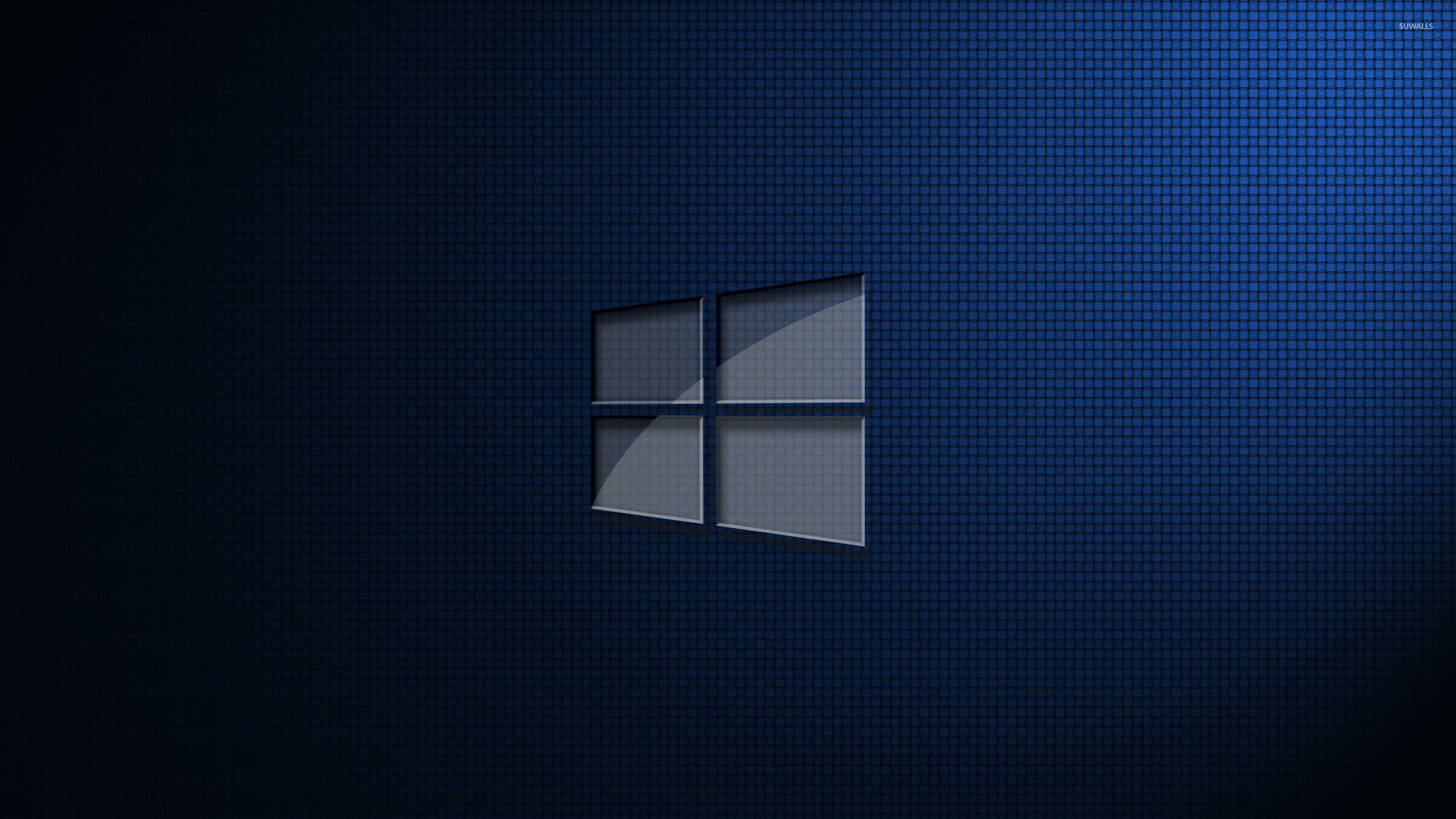Glass windows 10 on square pattern wallpaper computer for Window 10 wallpaper