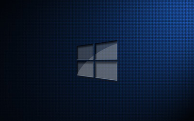 Glass Windows 10 on square pattern wallpaper