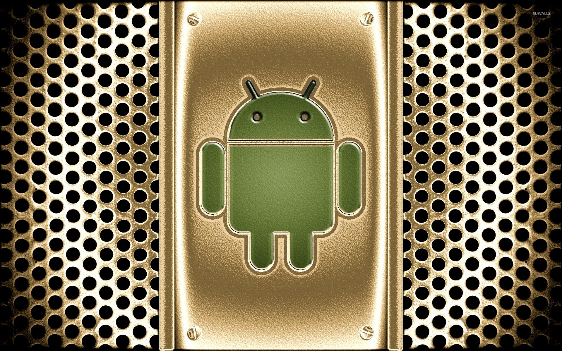 Golden Android logo wallpaper - Computer wallpapers - #22976Golden Android logo wallpaper