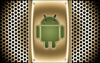 Golden Android logo wallpaper 1920x1200 jpg