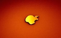 Golden Apple logo wallpaper 1920x1200 jpg