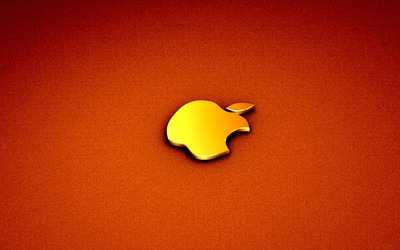 Golden Apple logo wallpaper