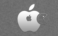 Gray Apple logo wallpaper 2560x1440 jpg