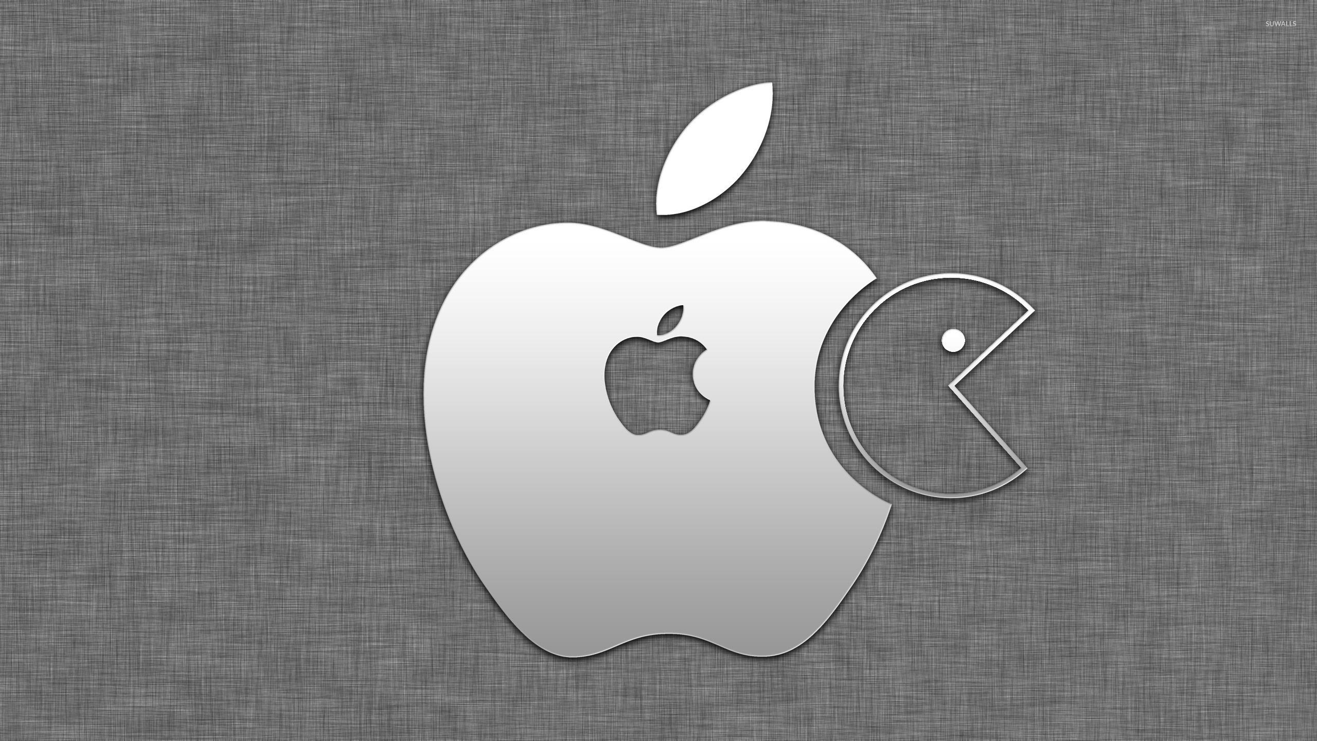 Gray Apple Logo Wallpaper