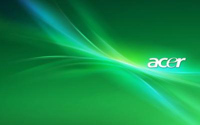 Green Acer logo wallpaper