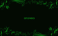 Green Android between green plants wallpaper 1920x1200 jpg