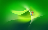 Green Windows 7 logo wallpaper 1920x1200 jpg