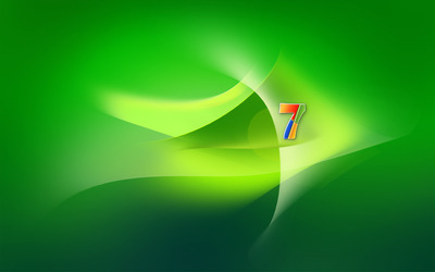 Green Windows 7 logo wallpaper