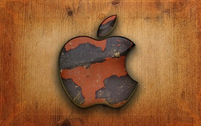 Grunge Apple logo wallpaper
