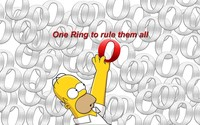 Homer Simpson reaching for the Opera logo wallpaper 1920x1080 jpg