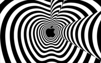 Hypnotic black and white Apple wallpaper 1920x1200 jpg