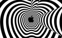 Hypnotic black and white Apple wallpaper 1920x1200 jpg