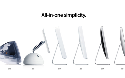 iMac evolution in time wallpaper