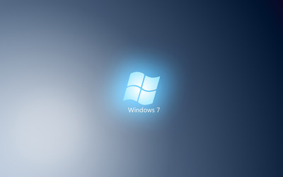 Light blue Windows 7 logo wallpaper