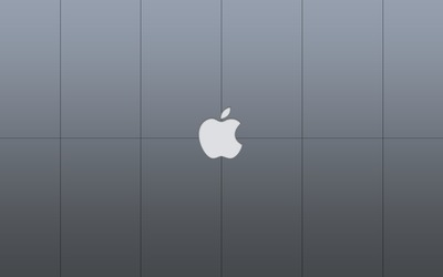 Light gray Apple logo Wallpaper