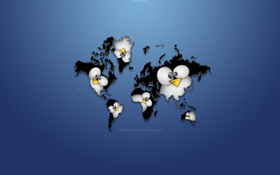 Linux all over the world wallpaper