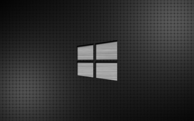 Metal Windows 10 on a grid wallpaper