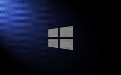 Metal Windows 10 on carbon fiber wallpaper