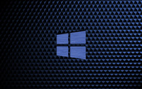 Metal Windows 10 on a blue cube pattern wallpaper 3840x2160 jpg
