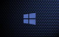 Metal Windows 10 on a blue cube pattern wallpaper 3840x2160 jpg