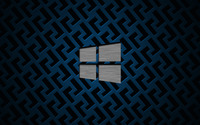 Metal Windows 10 on metallic grid wallpaper 3840x2160 jpg