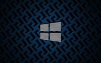 Metal Windows 10 on metallic grid wallpaper 3840x2160 jpg