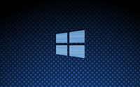 Blue metal Windows 10 on square pattern wallpaper 3840x2160 jpg