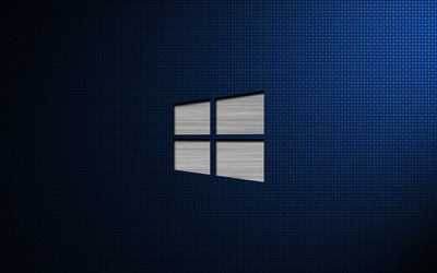 Metal Windows 10 on weave wallpaper