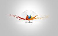 Mozilla Firefox on orange curves wallpaper 1920x1080 jpg