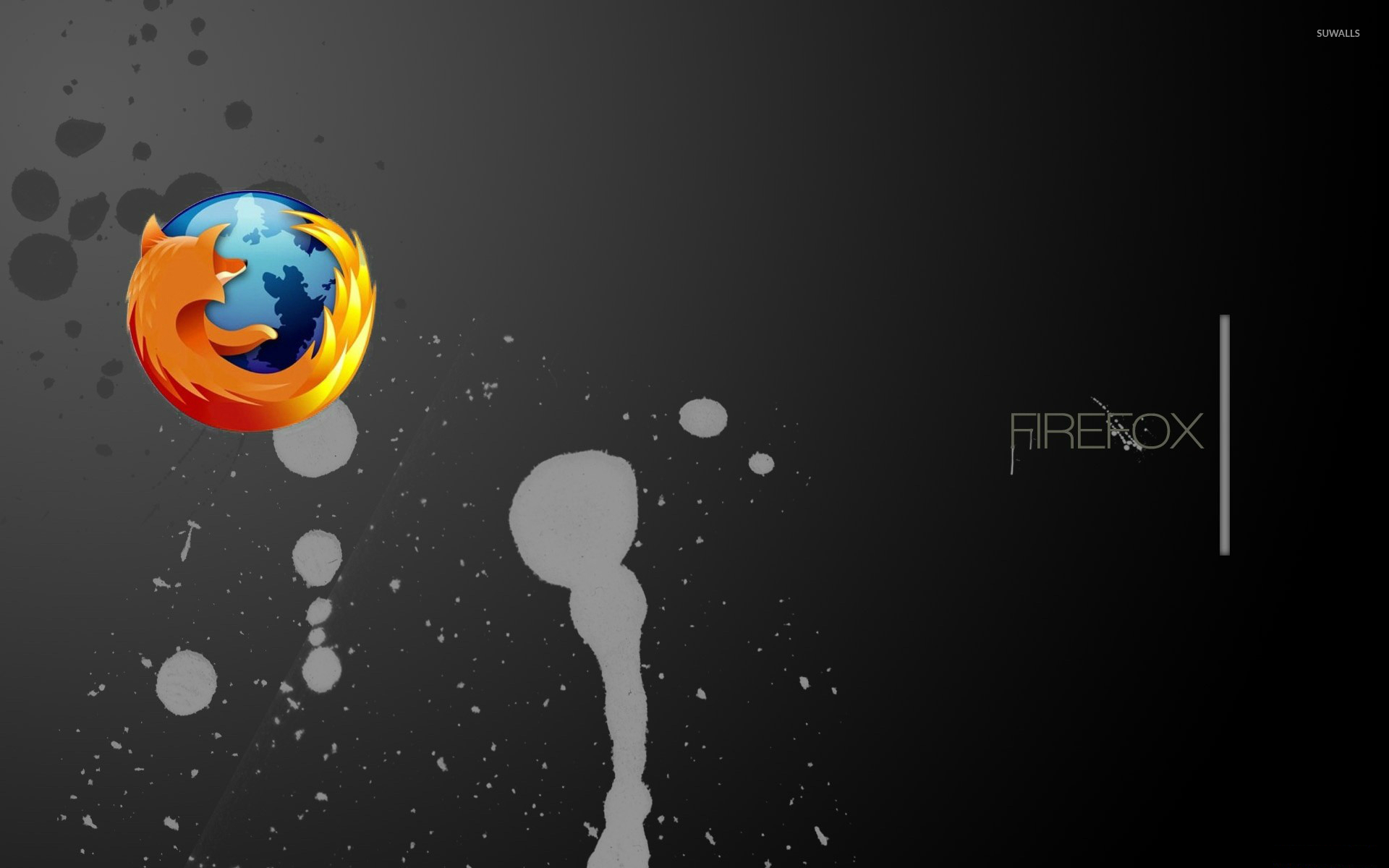 mozilla firefox on paint splash wallpaper - computer wallpapers - #49646
