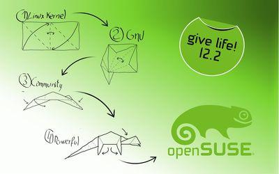 openSUSE 12.2 [2] wallpaper