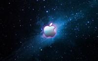 Pink glow surrounding Apple wallpaper 1920x1200 jpg