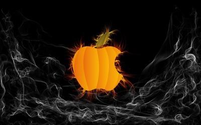 Pumpkin Apple logo wallpaper