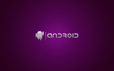 Purple Android logo wallpaper