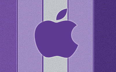 Purple Apple logo wallpaper