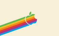 Rainbow Apple logo wallpaper 1920x1200 jpg