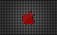 Red Apple logo on polka dots wallpaper 2880x1800 jpg