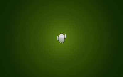 Silver Android running wallpaper