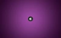 Silver Apple on purple line pattern wallpaper 1920x1200 jpg