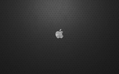 Small silver Apple logo wallpaper