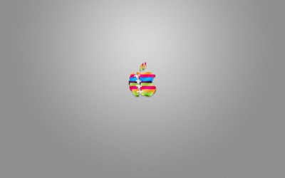 Stitched up Apple logo wallpaper